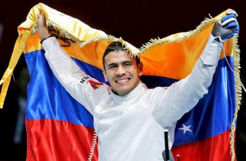 RUBEN LIMARDO ENTERS THE FENCING HALL OF FAME
