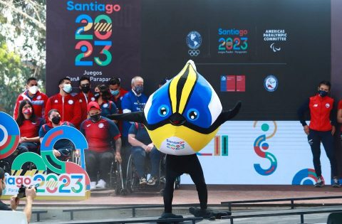 """SANTIAGO 2023 PRESENTS """"FIU"""" AS OFFICIAL MASCOT AT TWO-YEAR COUNTDOWN EVENT"""
